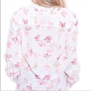 Equipment Femme 100% Silk Floral Popover Blouse